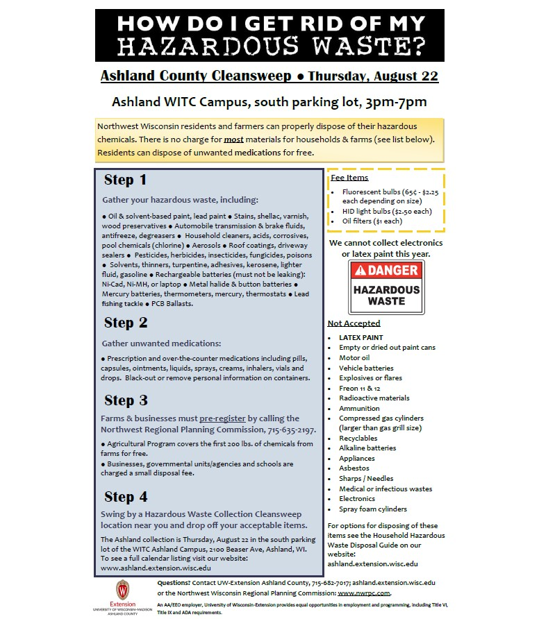 Hazardous Waste Collection – Extension Ashland County